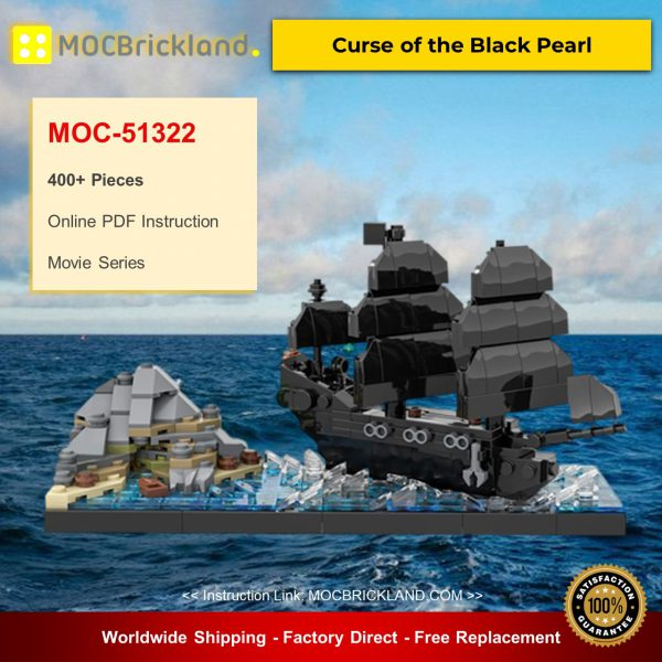 Movie MOC-51322 Curse of the Black Pearl By benbuildslego MOCBRICKLAND