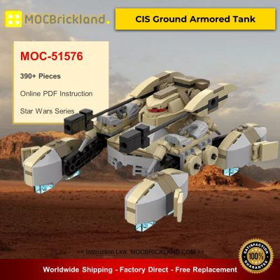 Star Wars MOC-51576 CIS Ground Armored Tank By Warlord_Sieck MOCBRICKLAND