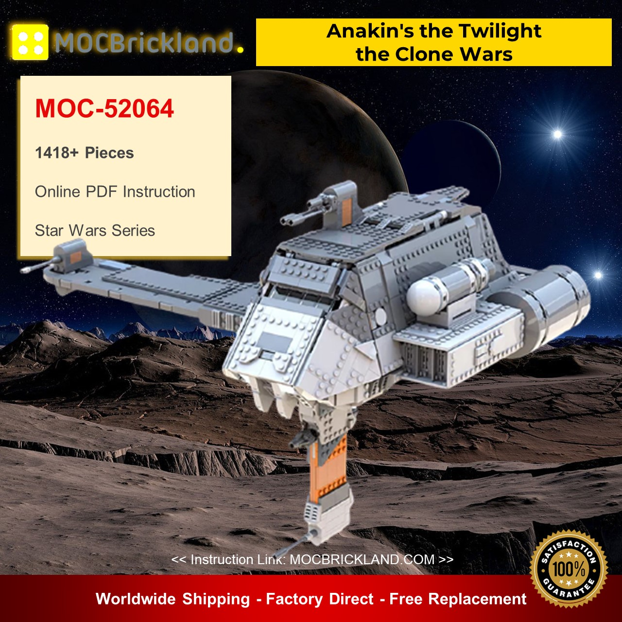 Star wars moc-52064 anakin's the twilight - the clone wars by bruxxy mocbrickland