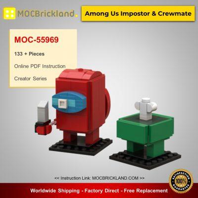 Creator MOC-55969 Among Us Impostor & Crewmate By VNMBricks MOCBRICKLAND