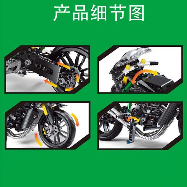 MOULDKING 23002 MOC 32005 Kawasaki H2R 4