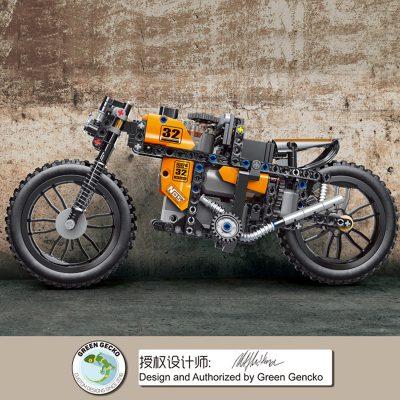 MOULDKING 23005 MOC 17249 RC Racing Motorcycle 2