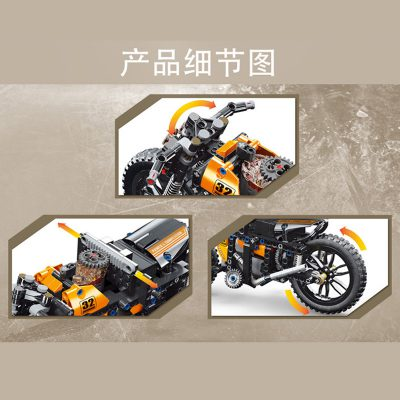 MOULDKING 23005 MOC 17249 RC Racing Motorcycle 4