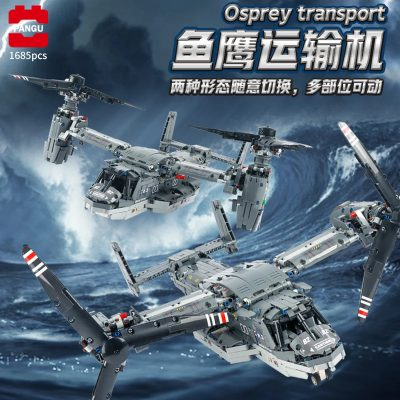 Technic PANGU 13003 Bell-Boeing V-22 Osprey Plane Compatible with LEGO 42113