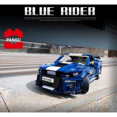 PANGU 14001 Ford Mustang GT500 RC Super Car Compatible LEGO 10265 3