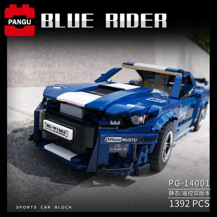 Technic PANGU 14001 Ford Mustang GT500 RC Super Car Compatible LEGO 10265