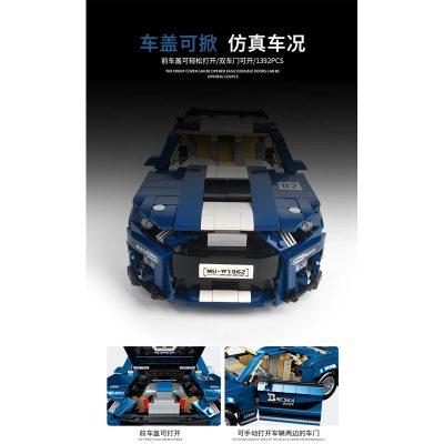 PANGU 14001 Ford Mustang GT500 RC Super Car Compatible LEGO 10265 8