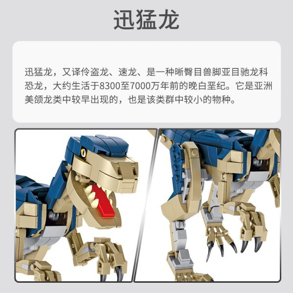 PANLOS 612003 Velociraptor Dinosaur 2