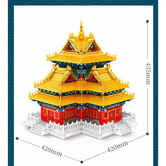 Modular Buildings SEMBO 201095 Palace Architecture: Corner Tower Collector's Edition