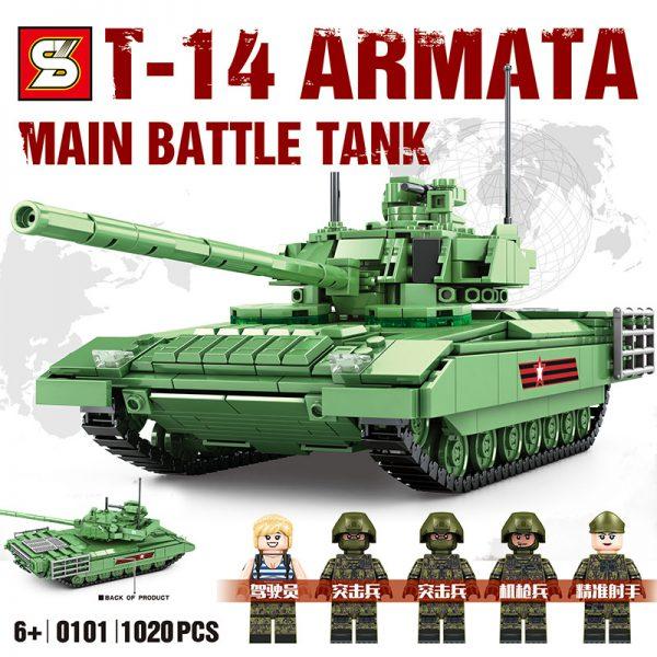 Military SY 0101 Russian T-14 Amata Main Battle Tank
